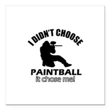 """paintball Designs Square Car Magnet 3"""" x 3"""""""