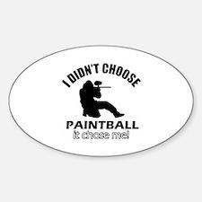 paintball Designs Sticker (Oval)