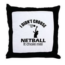 netball Designs Throw Pillow