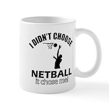 netball Designs Small Mugs