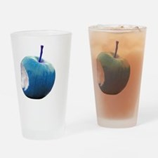 Turquoise apple Drinking Glass