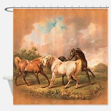 Stallion Horse Trio Shower Curtain
