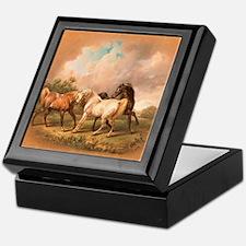 Stallion Horse Trio Keepsake Box