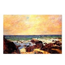 Gauguin - Rocks and Sea.  Postcards (Package of 8)