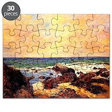 Gauguin - Rocks and Sea. Paul Gauguin paint Puzzle