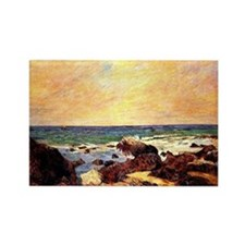 Gauguin - Rocks and Sea. Paul Gau Rectangle Magnet