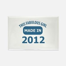 2012 year birthday designs Rectangle Magnet