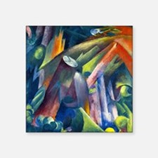 "Franz Marc - Forest Interio Square Sticker 3"" x 3"""