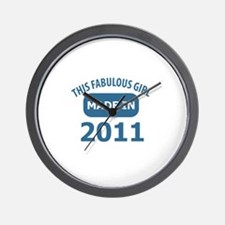 2011 year birthday designs Wall Clock