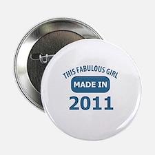 """2011 year birthday designs 2.25"""" Button"""