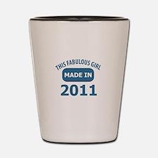 2011 year birthday designs Shot Glass