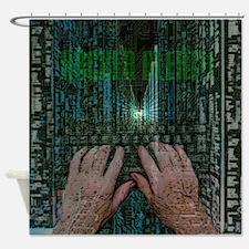 Hacker Alert Shower Curtain