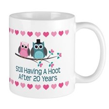 20th Anniversary Owl Gift Mugs