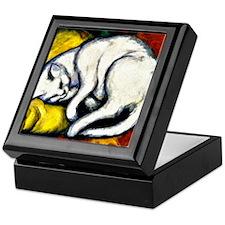 Franz Marc - White Cat. Franz Marc pa Keepsake Box