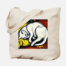 Franz Marc - White Cat. Franz Marc painti Tote Bag