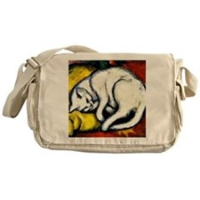Franz Marc - White Cat. Franz Marc p Messenger Bag