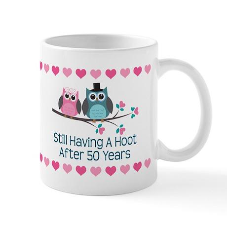 50th Anniversary Owl Gift Mugs