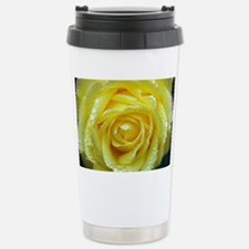 Yellow Rose Stainless Steel Travel Mug