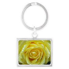 Yellow Rose Landscape Keychain