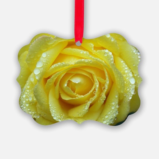 Yellow Rose Ornament