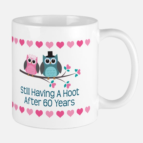 60th wedding anniversary gifts for 60th wedding anniversary 60th anniversary owl gift mugs negle Images