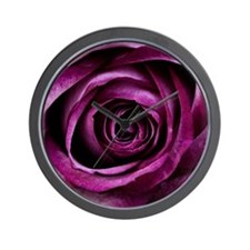 Purple Rose Wall Clock