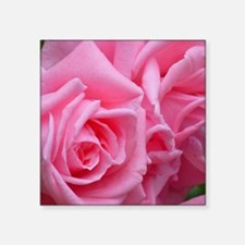 "Pink Rose Square Sticker 3"" x 3"""