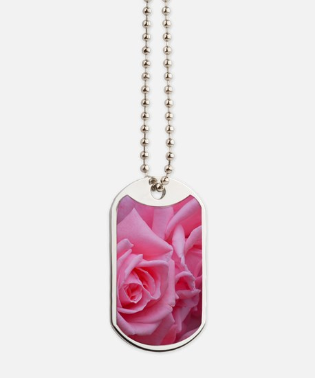 Pink Rose Dog Tags
