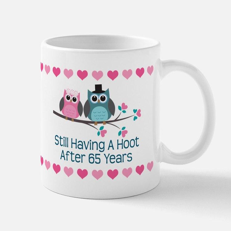 65th Anniversary Owl Gift Mugs