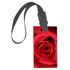 Red Rose Luggage Tag
