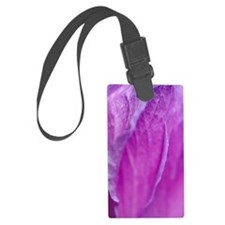 Purple Flower Luggage Tag