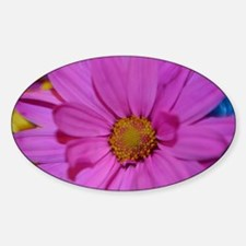Purple Flower Sticker (Oval)