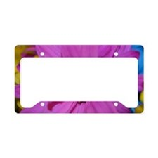 Purple Flower License Plate Holder