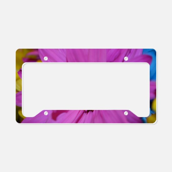 Purple Flower License Plate Holder
