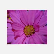 Purple Flower Throw Blanket