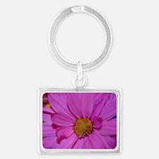 Purple Flower Landscape Keychain