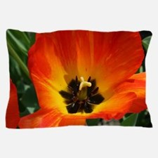 Orange Flower Pillow Case