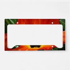 Orange Flower License Plate Holder