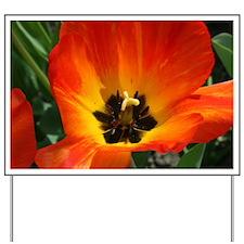 Orange Flower Yard Sign