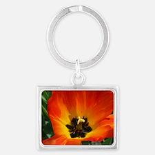 Orange Flower Landscape Keychain