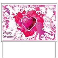 Love and Valentine Day Yard Sign