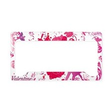 Love and Valentine Day License Plate Holder