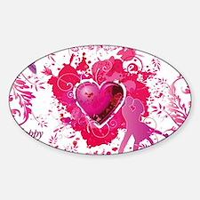 Love and Valentine Day Sticker (Oval)