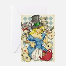 Alice's Tea Party Greeting Card