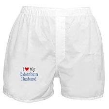 I Love My Colombian Husband Boxer Shorts