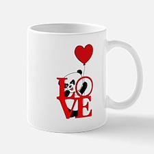 Panda bear and love Mugs