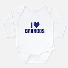 I heart BRONCOS Long Sleeve Infant Bodysuit