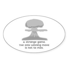 """""""Winning Move"""" [WarGames] Oval Decal"""