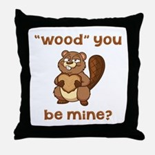 Wood You Be Mine Throw Pillow