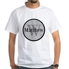 Gray Name and Initial Monogram T-Shirt